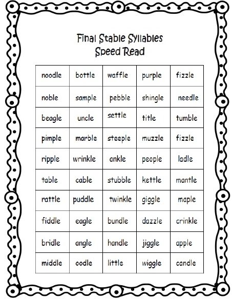 Word Work on Multisyllabic Words Worksheets