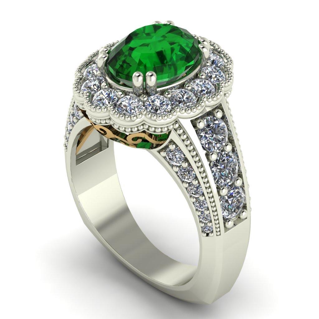Masonic Wedding Band 93 Cool Two Tone Emerald Ring