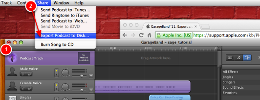 Creating a Podcast in Garageband / Posting on Google Sites