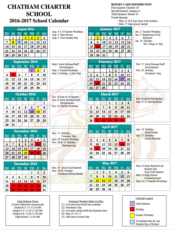 Chatham Academic Calendar - Academic Calendar