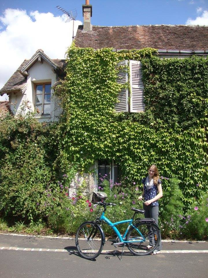 Biking this summer in Giverny to Monet's house.