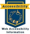 Image link to web accessibility information