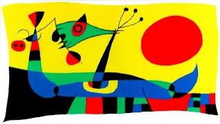 Artist Miro's artwork called The Red Sun