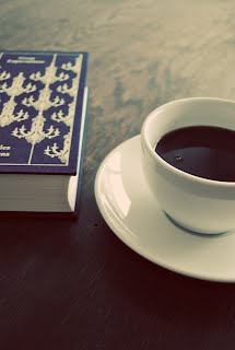 picture of coffee and a book