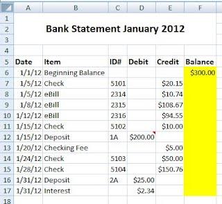 excel s2p2 bank statement mr bull s cit class