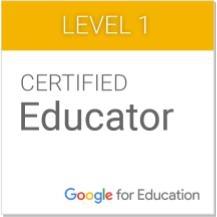 My Google Educator Badge
