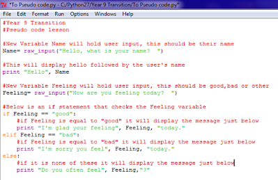 how to write pseudo code in word