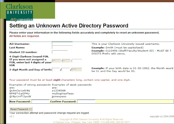 How to Change/Reset an Active Directory Password