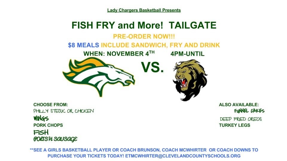 Fish fry and more tailgate chs for Fish and more