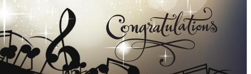 Congratulations-Mars Hill Choral Festival