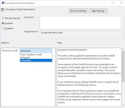 Windows 10 更新CredSSP 遠端桌面無法直接登入