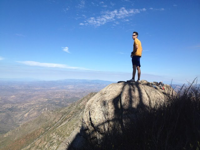 High point of the course, Cuyamaca Peak