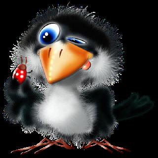 cartoon baby blue bird