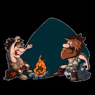 cartoon caveman group image