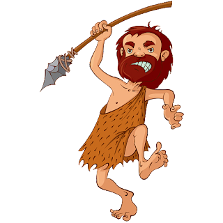 funny caveman with spear 1