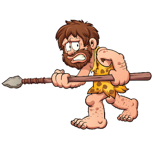 funny caveman with spear 2