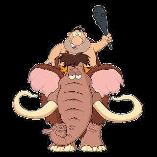 Caveman On Mammoth
