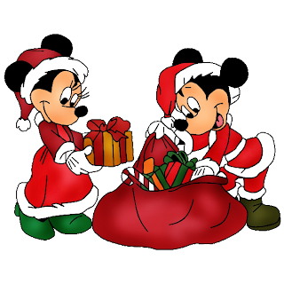 Disney Mickey And Minnie Cartoon Christmas Clip Art Images