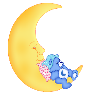 baby care bear on the moon