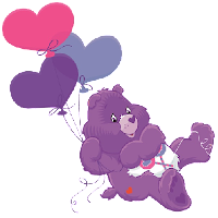 Care Bear Flying Love Hearts