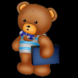 Baby_Brown_Bear_Blue_Bow_Blue_Book