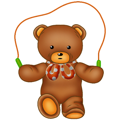 Baby_Brown_Bear_Red_Bow_Skipping_Ropes