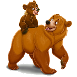 bear  mother and baby cartoon image 4