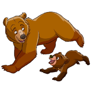 bear  mother and baby cartoon image 5