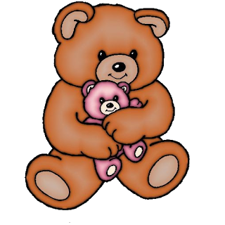 bear  mother and baby cartoon image 8
