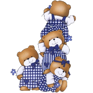 four brown baby bears