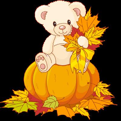 cute_white_bear_on_pumpkin