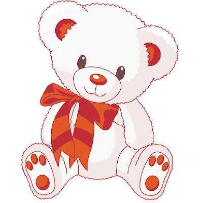 cute_white_bear_wearing_red_scarf