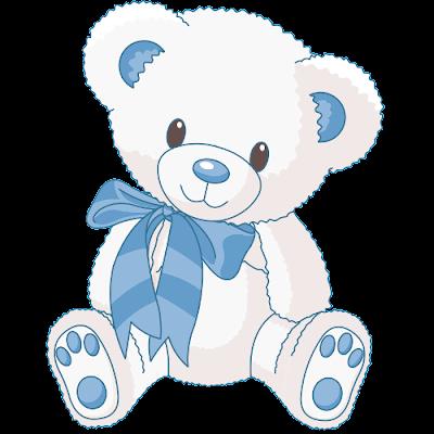 cute_white_bear_wearing-blue_scarf