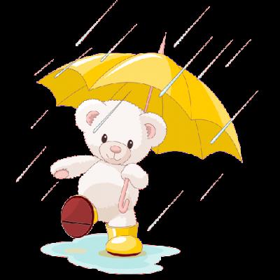 cute_white_bear_splashing_in_puddle