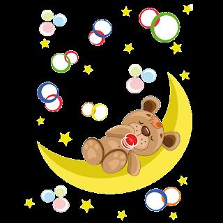 cute_baby_brown_bear_on_moon