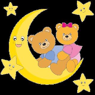 two_baby_grey_bears_sitting_on_moon 3