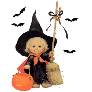 cute halloween cartoon baby witches - Cute Halloween Witches