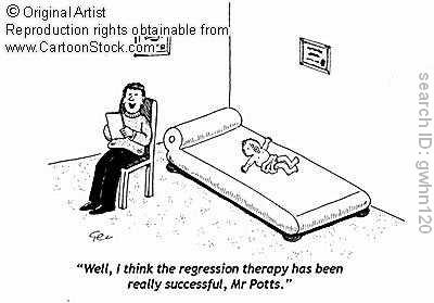 Regression psychosexual stages