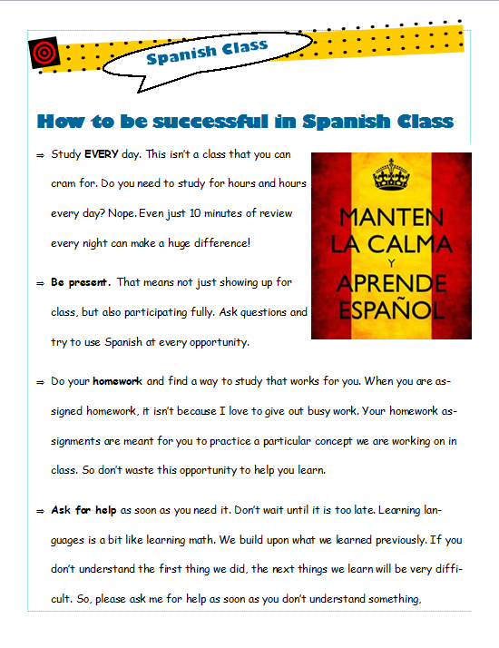 How to be spanish