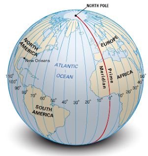 Longitude half way around the globe from 0 longitude the prime meridian is 180 the diagram below shows a birds eye view over the north pole of how the prime ccuart Choice Image