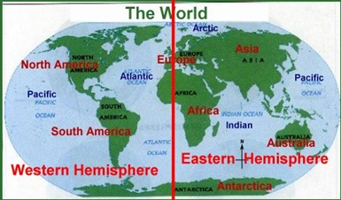Every Place Between 0° Longitude And (moving West) To 180° Longitude Is  Said To Be In The Western Hemisphere. Every Place Between 0° Longitude And  (moving ...