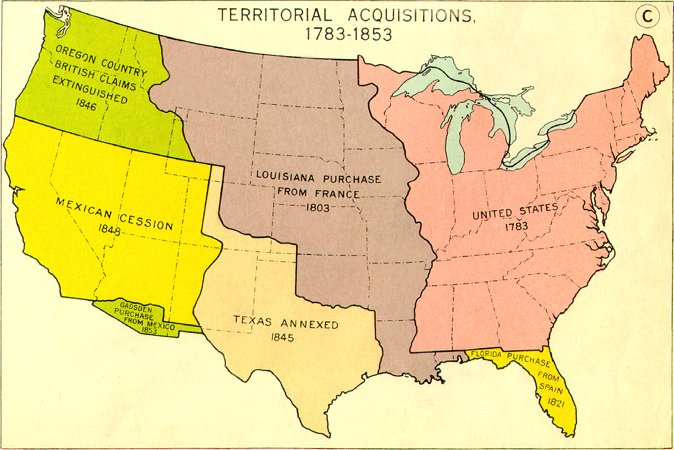 War With Mexico Manifest Destiny - Us map mexican war