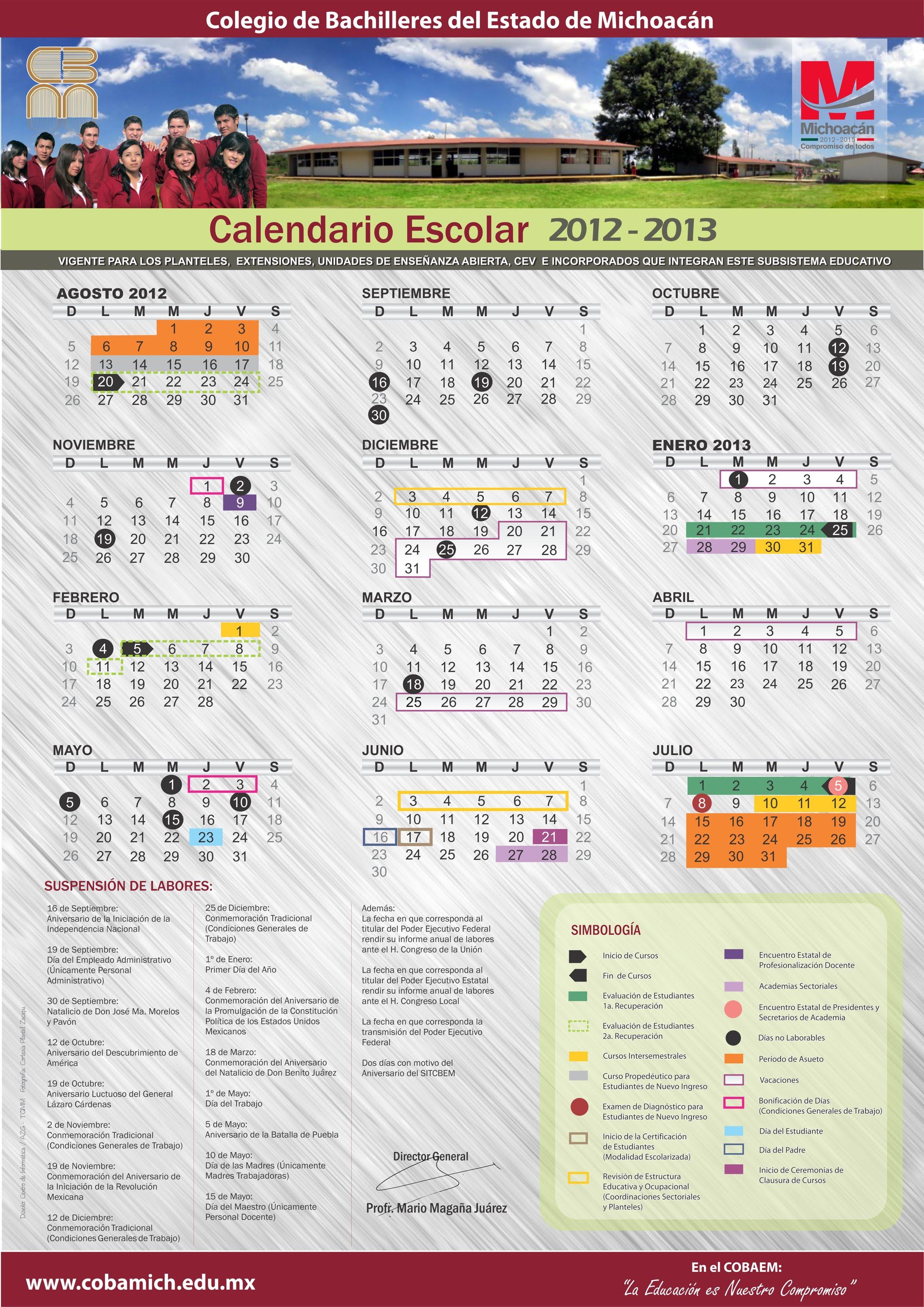 ... click a la imagen y se abrira una nueva ventana del calendario escolar