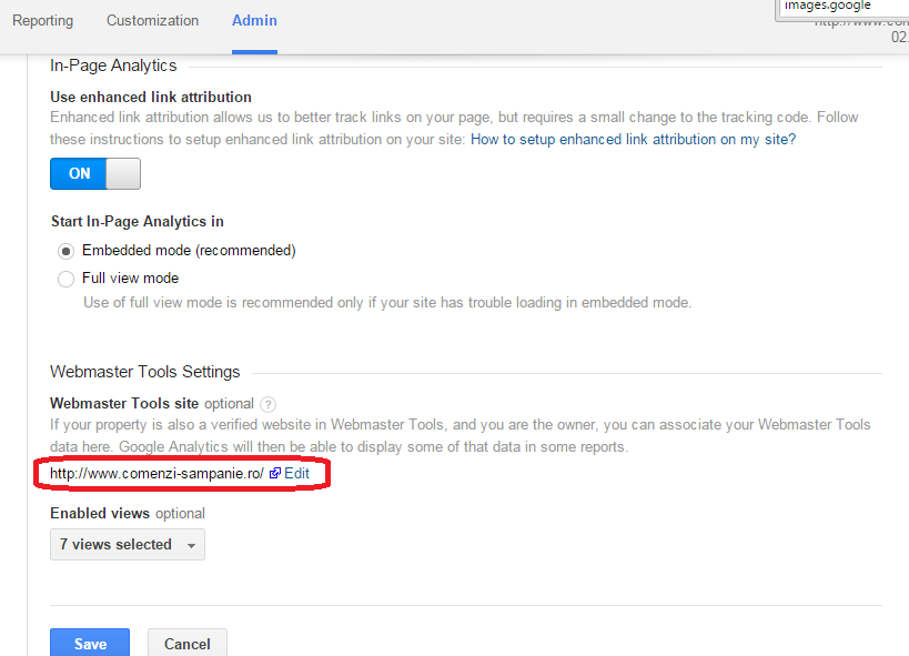 link Google Analytics with Webmaster Tools