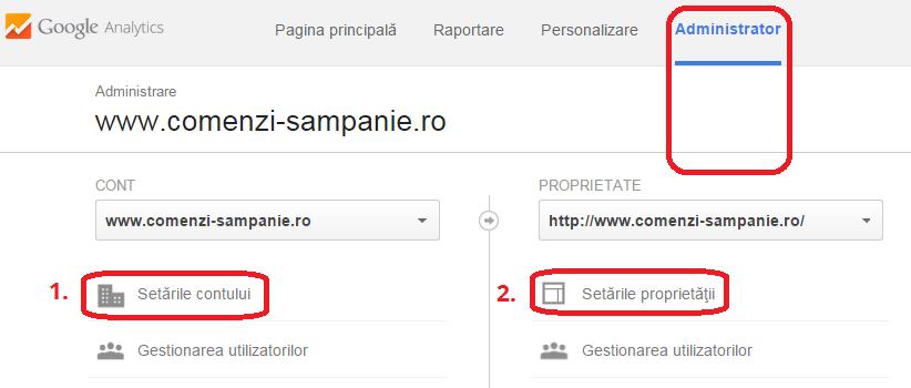 configurare google analytics Administrare [ 1 ]
