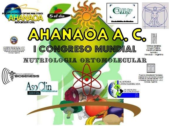 I CONGRESO MUNDIAL DE NUTRICION ORTOMOLECULAR