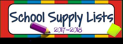 2017-18 School Supplies Lists