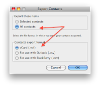Importing Contacts - From First Class to Gmail