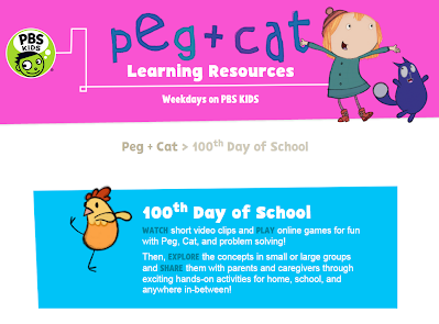 http://pbskids.org/learn/100th-day-of-school.html