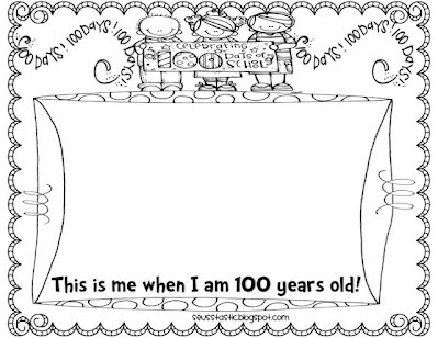 100th day printables 100th day of school fun for 100th day hat template